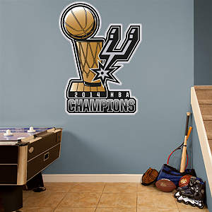 San Antonio Spurs 2014 NBA Champions Logo Fathead Wall Decal